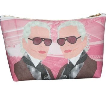 Anna Wintour & Karl Lagerfeld Fashion Makeup Bag – Illustrated and Handmade in the USA