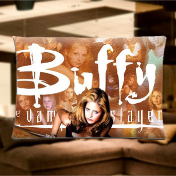 "Buffy The Vampire Slayer Pillow Case Cover Bedding 30"" x 20"" Great Gift"