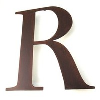 Metal R Sign Wall Letter