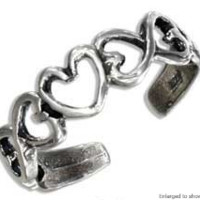 Infinity Hearts Toe Ring