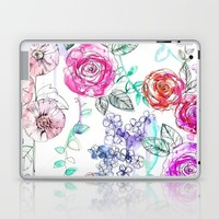 Pastel Rose Garden 02 Laptop & iPad Skin by Holly Sharpe