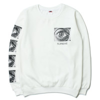 Supreme  Embroidery round collar sweater thickening sweater