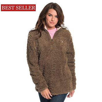 Sherpa Pullover with Pockets in Caribou by The Southern Shirt Co. - FINAL SALE