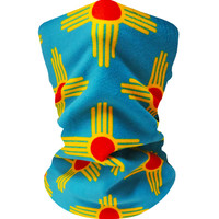 New Mexico Teal/Gold Neckwarmer