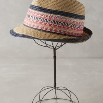 Hicacos Fedora by Anthropologie in Pink Size: One Size Hats