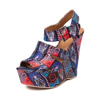 Womens SHI by Journeys Poshe Wedge, Multi, at Journeys Shoes