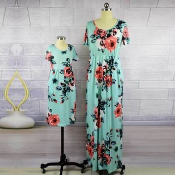 Mommy and Me floral Maxi Dresses 4 colors
