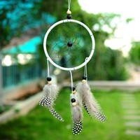 Soledi Handmade Romantic Dream_Catcher Car Wall Hanging Decoration Bead Ornament...