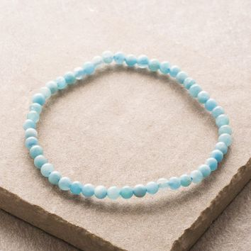 Aquamarine Mini Energy Gemstone Bracelet