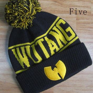 onetow One-nice? Perfect Wu-Tang Clan Hiphop Women Men Beanies Winter Knit Hat Cap