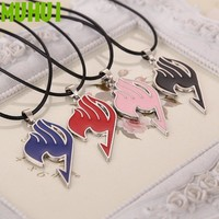 4 Colors Anime FAIRY TAIL Logo Necklace For Women Jewelry Collares Kolye 291