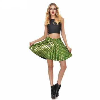 Green Mermaid Skin Skirt