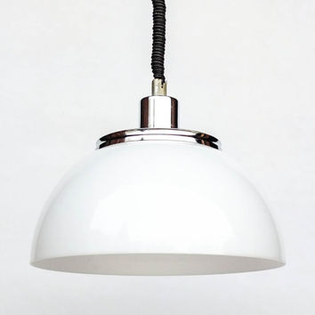 Atomic Ceiling Light / Adjustable Space Age Ceiling Lamp Pendant Lamp / 70's Retro Home Decor / White