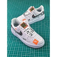 Nike Air Force 1 AF1 Low Custom Just Do It 905345-500 SL YS White Black Graffiti Sport shoes