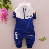 Retail 2015 summer autumn style infant clothes baby clothing sets boy Cotton long sleeve 2pcs brand baby boy and girl clothes