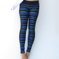 Stripy Leggings perfect for Gym, Sport, Jogging, Cycling Wear , Women Clothing, Pants, Thights