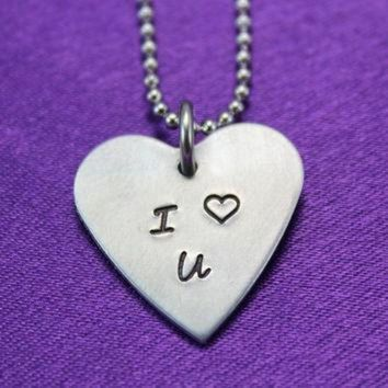 DCCK1IN valentine s heart necklace i heart you conversation heart necklace i love you nec