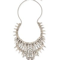 Seraphina Silver Statement Necklace in Clear | Kendra Scott