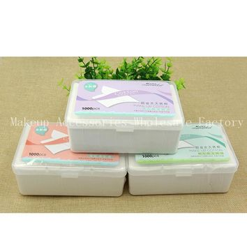 Disposable Makeup Remover Pads 48box Facial Cleansing Cotton Cosmetics Wet Tissues Non-woven  Cleanser Wipes 1000 Pumping Boxed