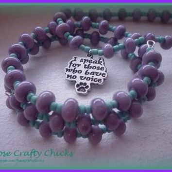 Animal Rescue Necklace + Bracelet from The Crafty Warrior