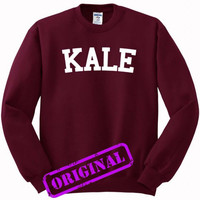 KALE for Sweater maroon, Sweatshirt maroon unisex adult