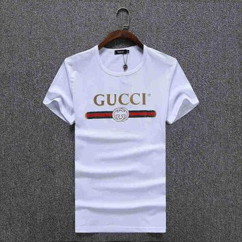 DCCK GUCCI Women Man Fashion Print Sport Shirt Top Tee