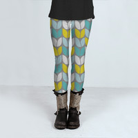 Tulip Knit Leggings by Beth Thompson Art (Leggings)