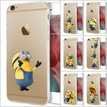 Minions Phone Case Me Minions Case For iPhone X 8 7 Plus Hard Pc AND soft TPU
