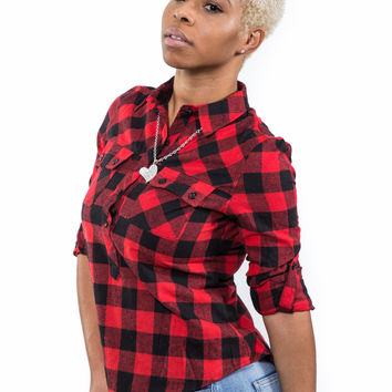 Ms Flannel Checkered Shirt