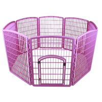 IRIS 8-Panel Plastic Pet Pen, CI-908, Pink