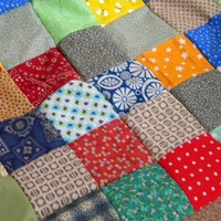 Quilt, Patchwork Quilt, Classic Americana--Extra Picnic size--85 X 85--made to order, cotton blanket