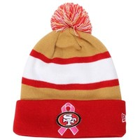 New Era San Francisco 49ers Breast Cancer Awareness On-Field Sport Knit Beanie - Red/Gold