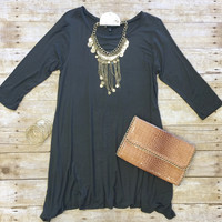 Simplicity is Key Tunic Dress: Olive