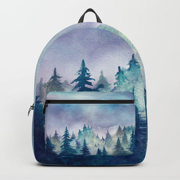 Into The Forest Backpacks by Marco Gonzalez