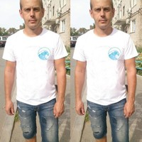 Short Sleeve Summer Fashion Hot Sale Casual Sea Print T-shirts [10775874435]