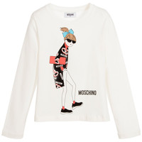 Moschino Girls Ivory Cool-Girl T-shirt
