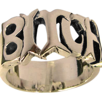 A Bitch Ring Bronze Word Ring