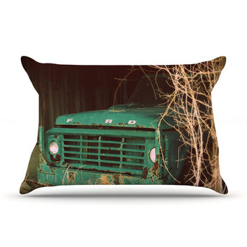 """Angie Turner """"Ford"""" Teal Car Pillow Sham"""