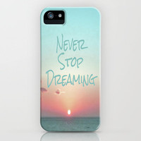 Never Stop Dreaming iPhone Case by Ally Coxon | Prints | Pillows | Cards | Skins and more at Society6