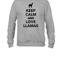 Keep calm and love llamas - Crewneck Sweatshirt