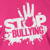 Anti Stop Bullying T-Shirt  school pink shirt day Tshirt - Screen Printed T-Shirt Tee Shirt T Shirt Mens Youth Kids Funny Geek
