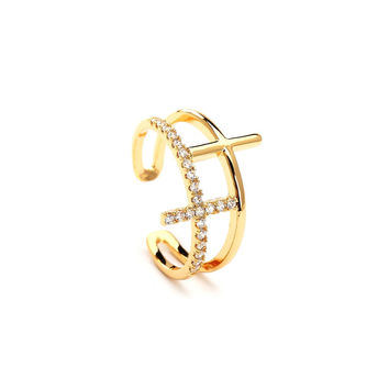 Amelia Stackable Gold Ring