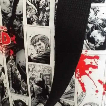 The Walking Dead Comic Strip Bag, Tote or Purse with Blood Splats