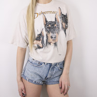 Vintage Doberman Dog T Shirt