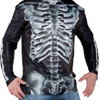 men's costume: photo real shirt x-ray