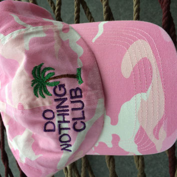 Do Nothing Club Cap - Pink Camoflauge w/ Purple Lettering