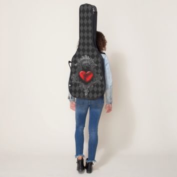 Red Goth Heart Guitar Case