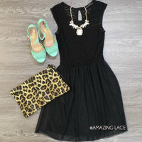 Crane Cottage Black Sweetheart Dress