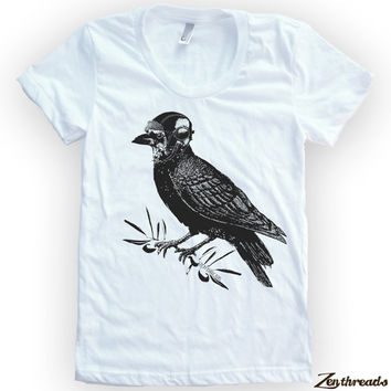 Womens Aviator CROW T Shirt American Apparel S M L XL (14 Colors)