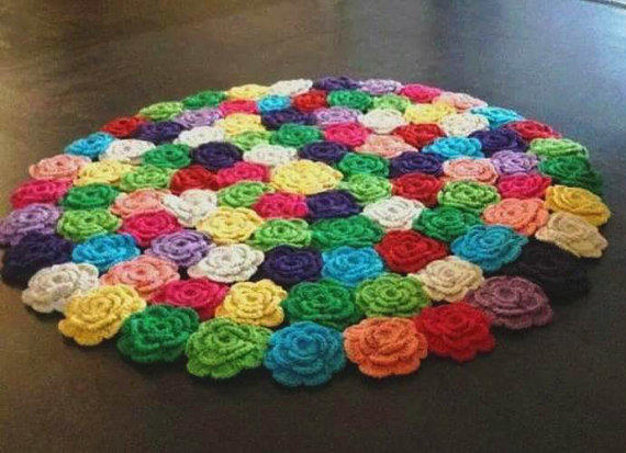 CROCHET FLOWER RUG From BEYLIKDUZUORGUEVI On Etsy